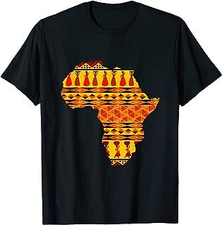 African Pride Ankara Tribal Pattern T Shirt