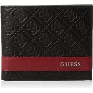 Men's Genuine Leather Slim Card Holder Bifold Wallet with Stitch Details