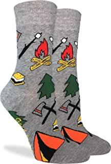 Women's Camping Socks - Grey, Adult Shoe Size 5-9