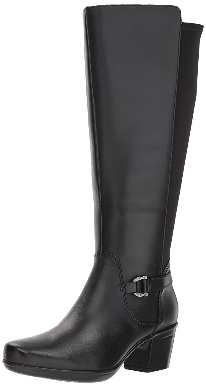メンタル理解するぎこちない[クラークス] Women's Emslie March Wide Calf Fashion Boot [並行輸入品]