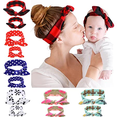 mom and me knotted headbands matching set matching Natural Sailors knot: Mommy /& Me set {2 items} cream neutral light beige oatmeal