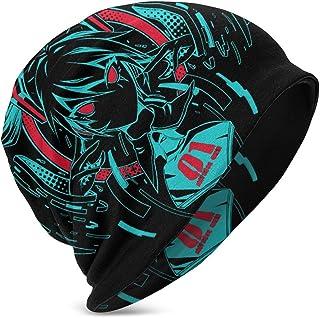 Hatsune Miku Kids Skull Cap Beanie Caps Verano Invierno Sombrero de Punto Fino Sombrero de Hip Hop para jóvenes Negro