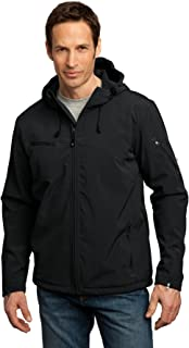 Men's Textured Hooded Soft Shell Jacket