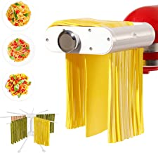 ANTREE Pasta Maker Attachment for KitchenAid Stand Mixers with Pasta Drying Rack & Cleaning Brush, 3-1 Set includes Pasta ...
