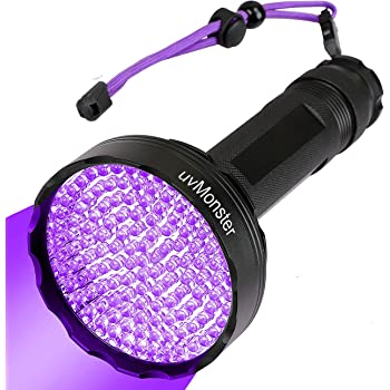 UV Blacklight Flashlight, Super Bright 128 LED Pet Dog Cat Urine Detector light Flashlight for Pet Urine Stains, UV Black light Flashlight for Bed Bugs, Scorpions Hunting
