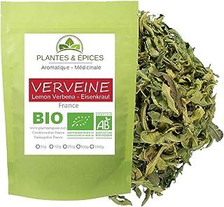 """Plantes & Epices - Verveine Citronnelle BIO Tisane Infusion Cuisine dite """"clef des champs"""" en feuilles entières (100g)"""