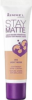 Rimmel Stay Matte Foundation, Light Nude, 1 Fluid Ounce