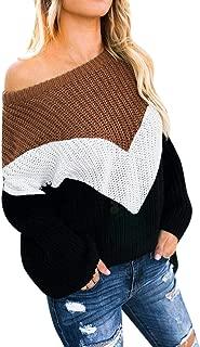 ZANZEA Women's Pullover Sweater Batwing Sleeve Oversized Tops Off Shoulder Loose Knit Jumper
