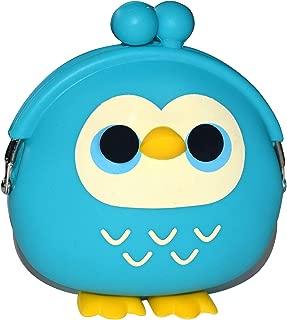 KOMTO Cute Animal Owl with Leg Multipurpose Mini Coin Purse Bag Headphone Earphone Pouch (Turquoise)