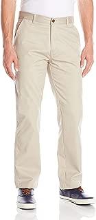 IZOD Uniform Men's Young Classic Fit Flat Front Twill Pant, beige, 30x30
