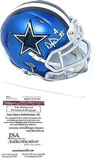 Dak Prescott Dallas Cowboys Signed Autograph BLAZE Speed Mini Helmet Dak Hologram JSA Witnessed Certified