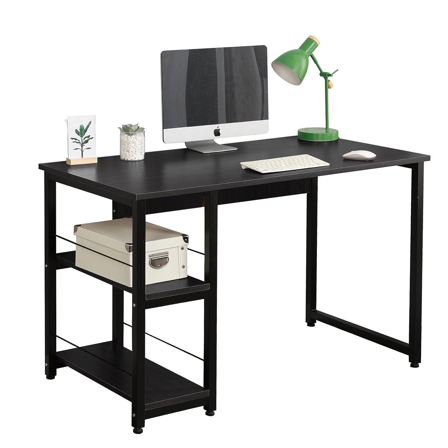 衣服西部しなければならないsoges パソコンデスク 幅120cm サイドラック 棚 本棚 プリンター 置き場 PCデスク ワークデスク パソコンラック オフィスデスク 作業机 勉強机 PC机 パソコン机 テーブル ラック付き 棚付き 机 デスク desk 金属 おしゃれ