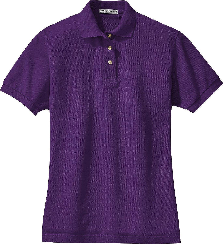Port Authority-Ladies Pique Knit Polo. L420-Purple