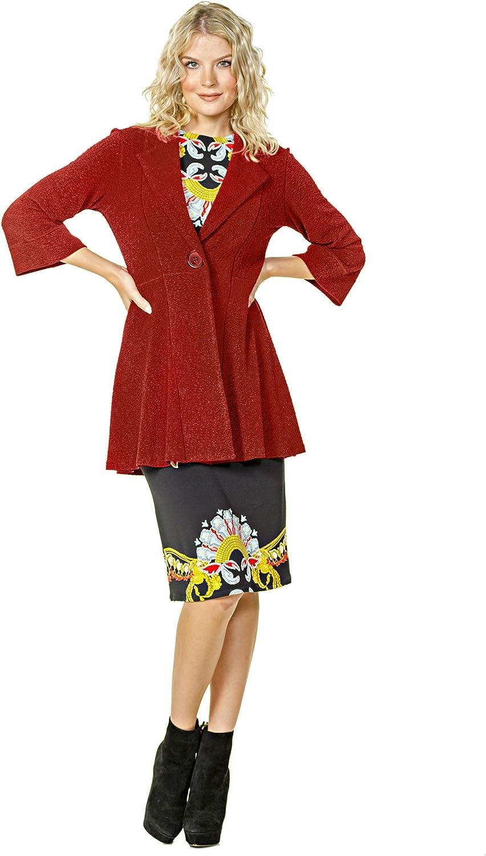 Eva Varro Women's 3 4 SLV Empire One Button Jacket