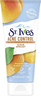 St. Ives Acne Control Face Scrub With Salicylic Acid, Non Comedogenic, Paraben Free, and Oil free 6 oz