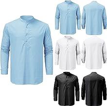 Katoenen linnen hemd voor heren, herfst, winter, mannen, hemd, lange mouwen, regular fit, vrijetijdshemd, shirts, oversize...