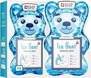 SNP - Ice Bear Hyaluronic Korean Face Sheet Mask - 10 Sheet Pack - Best Gift Idea for Mom, Girlfriend, Wife, Her