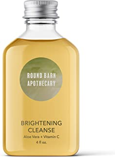 Round Barn Apothecary Brightening Cleanse | Daily Brightening Face Cleanser | With Aloe Vera and Vitamin C | For Damaged a...