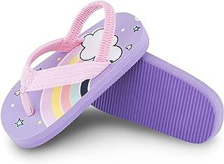 Toddler Flip Flops for Boys Girls - Slide Sandals with Back Strap, Non -slip Waterproof Comfortable Light Infant Sandals f...