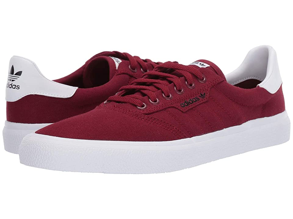 Image of adidas Skateboarding 3MC (Collegiate Burgundy/Collegiate Burgundy/Footwear White) Men's Skate Shoes