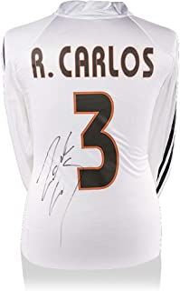 Roberto Carlos Real Madrid Autographed 2004-05 Home Jersey - ICONS - Fanatics Authentic Certified - Autographed Soccer Jerseys