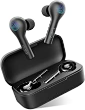 Wireless Earbuds with Charging Case, Bluetooth 5.0 Earphones 20Hrs Playing Time in-Ear Stereo Calls Stereo Sound Game Mode Built-in Mic Sweatproof Auto Pairing for iPhone Samsung Android