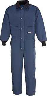 RefrigiWear Men's ChillBreaker Insulated Coveralls with Soft Fleece Lined Collar