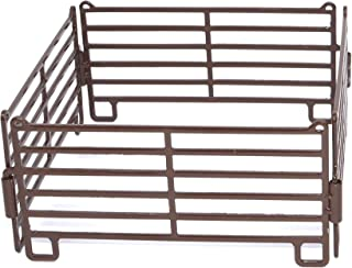 Little Buster Toys Panel Set - 4 Piece Priefert Fence Set in Brown, 1/16th Scale
