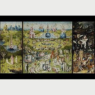 Jqchw Jigsaw Puzzle El jardín de Las delicias 1000 Piezas de Rompecabezas de Madera de Alta definición Impreso Cartel Rompecabezas Obra Maestra clásica for Adultos descompresión Inteligencia Juguetes