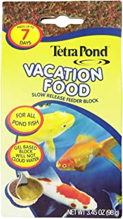TetraPond 16477 Vacation Food Slow Release Feeder Block, 3.45 Ounce [2-Pack]