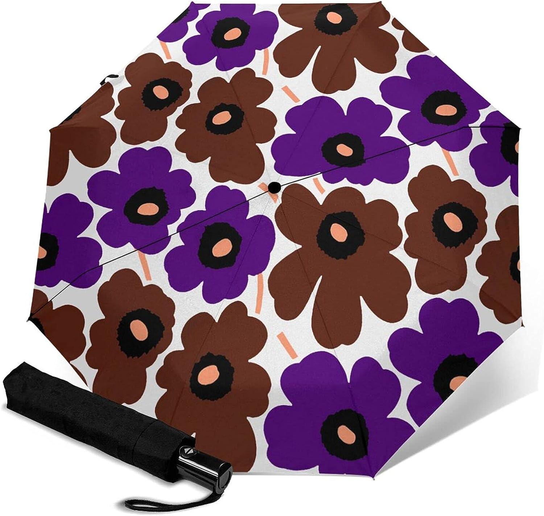 Super popular specialty store Marimekko Unikko Selling Automatic Umbrellas Triple Folding