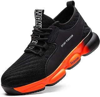 SROTER Chaussures de Sécurité pour Homme Femme, Standard S1 Embout Acier Respirant Chaussures de Travail Légère Chantiers ...