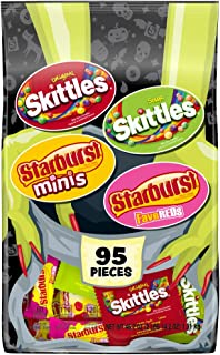 SKITTLES & STARBURST Halloween Candy Fun Size Variety Mix 46.2 Ounce Bag 95 Count