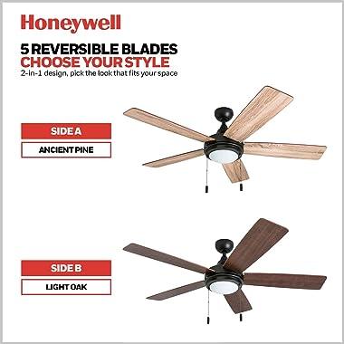 """Honeywell Ceiling Fans 50607-01 Ventnor Ceiling Fan, 52"""", Bronze"""
