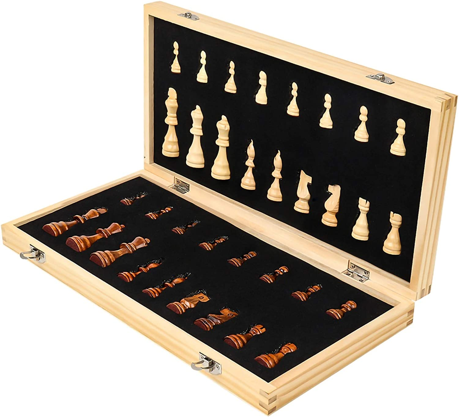 QDY International Chess Same day shipping - Wooden Magnetic Portable Foldable Max 59% OFF Ches
