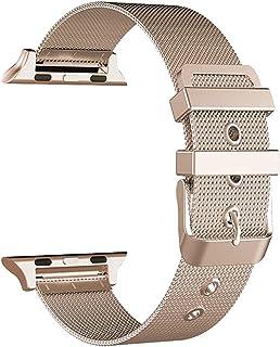 CGGA Correa de acero inoxidable para Apple Watch 38 mm 42 mm para iWatch SE 6/5/4/3/2/1 40 mm 44 mm pulsera de reloj corre...