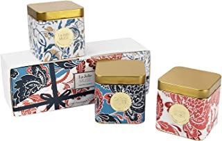 LA JOLIE MUSE Scented Candles Gift Set - Natural Soy Wax Mood Candles, 3 Small Travel Tin Aromatherapy Candles, 400g Mini Stress Relief Portable Essential Oil Candles, Relaxing Gift (Gold Trio)