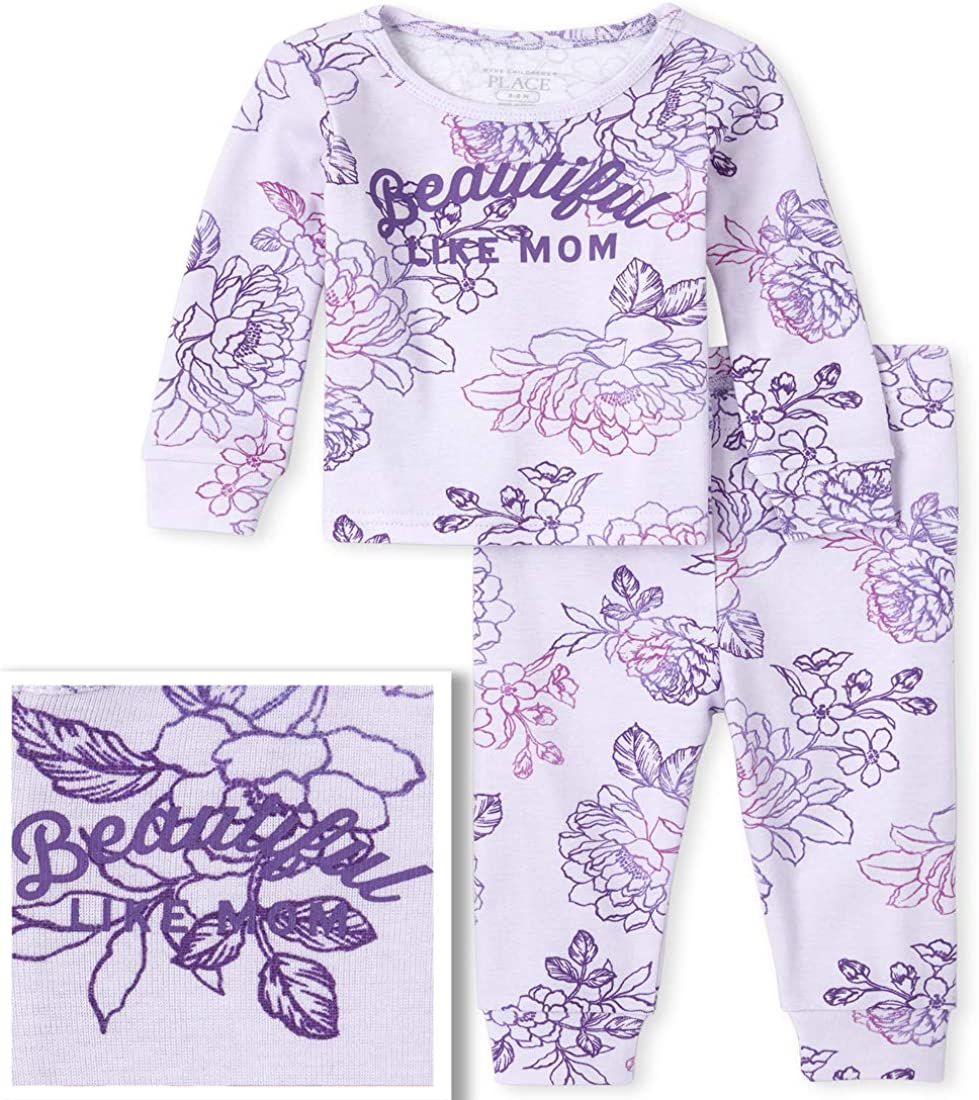 The Children's Place Girls' Baby and Toddler Mommy and Me Beautiful Matching Snug Fit Cotton Pajamas