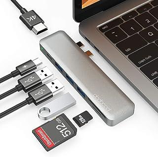dodocool Hub USB C Adattatore per MacBook PRO 7 in 1, con Thunderbolt 3, 4K HDMI, 3 USB 3.0, Lettore Schede SD/TF per MacB...