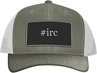 One Legging it Around #IRC - Leather Hashtag Black Metallic Patch Engraved Trucker Hat