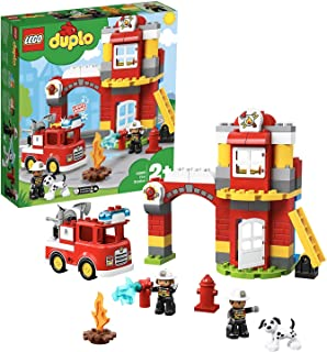 レゴ(LEGO) デュプロ 光る! 鳴る! 消防車と消防署 10903 知育玩具 ブロック おもちゃ 男の子