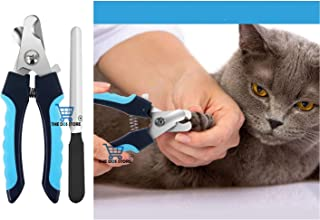 THE DDS STORE Cat Nail Clipper with Safety Guard to Avoid Over-Cutting & Free Nail File, Dog Nails Clippers Small to Larg...