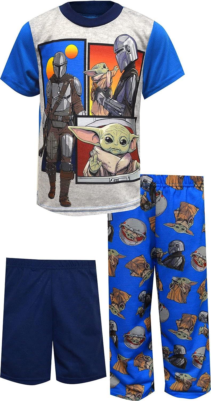 AME Sleepwear Boys' Selling Star Wars The Mandalorian 3 Piece Blue Pajam Memphis Mall