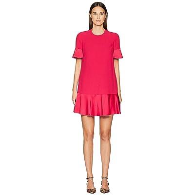 RED VALENTINO Crepe Envers Satin Dress (Rose Shocking) Women