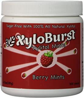 Focus Nutrition, XyloBurst Sugar-Free Xylitol Mint Candy Jar, Berry Mints - 300 Pieces