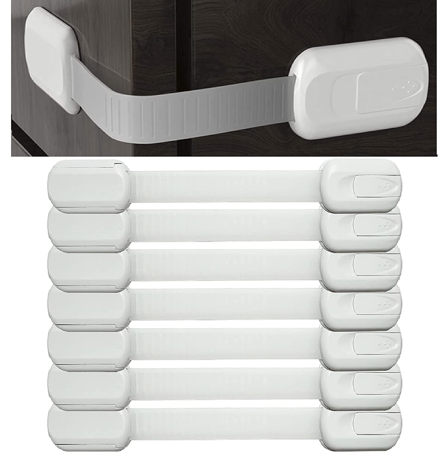 Baby Proofing Cabinet Strap Locks – Shipping included Child 8 Packs Proof Nippon regular agency Saf
