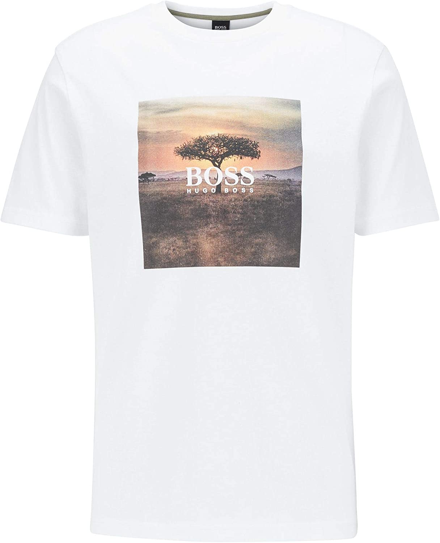 Hugo Boss Troaar 5 algodón Regular Fit camiseta blanca ...