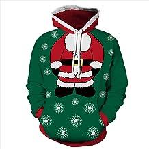 Unisex Christmas Hoodie 3D Printed Long Sleeve Funny Sweatshirt Jumper Sweater Pullover Tops