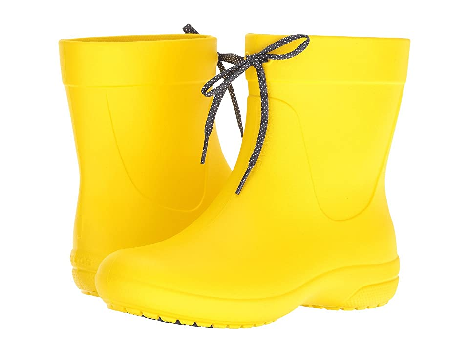 Crocs Freesail Shorty Rain Boot (Lemon) Women