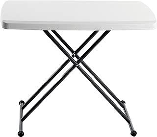 Iceberg 65490 Indestructible Too 1200 Series Resin Personal Folding Table 30 x 20 Platinum